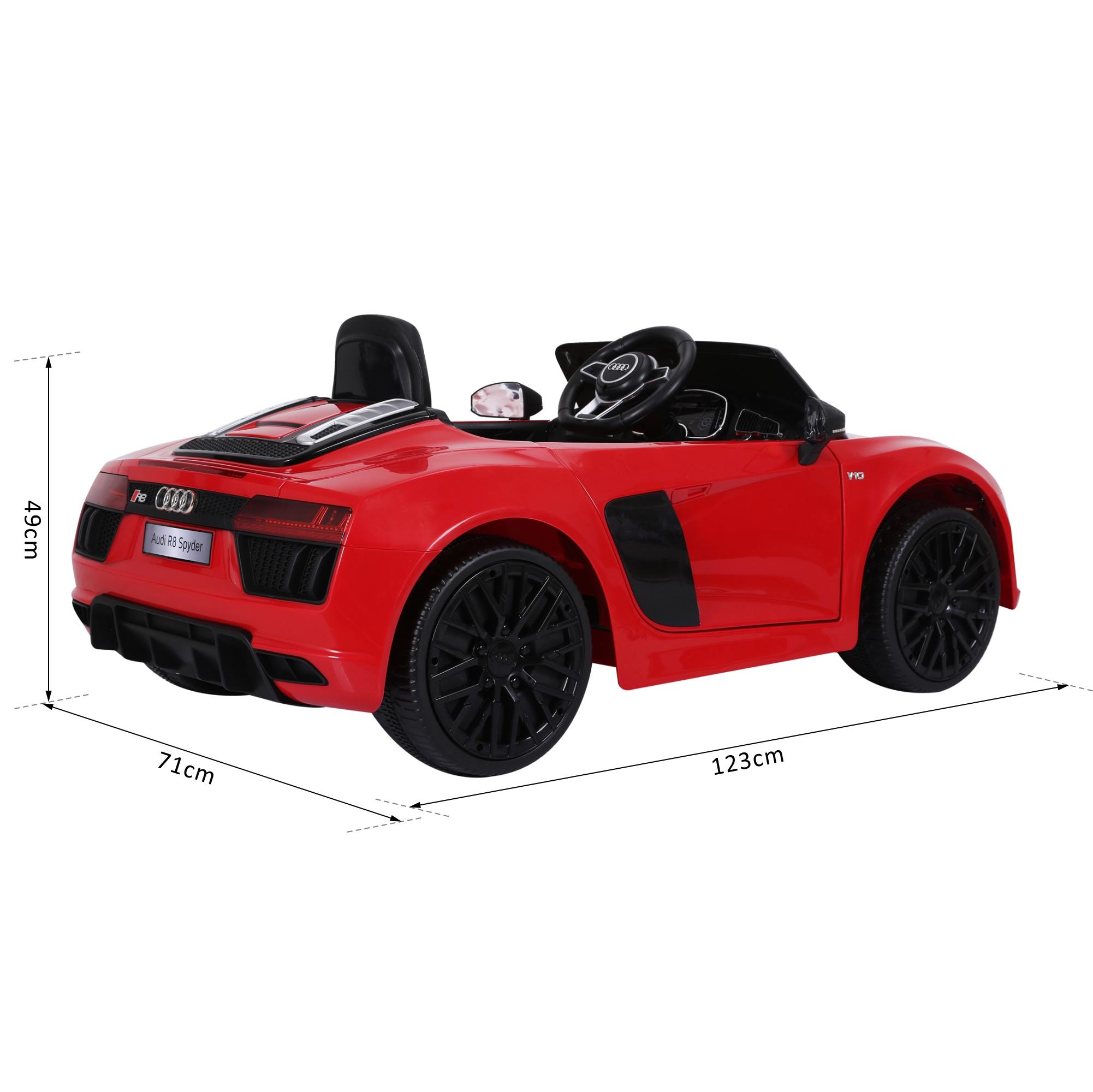 Coche-Electrico-para-Nino-3-8-Anos-Audi-R8-Bateria-12V-Control-Remoto-Carga-30kg miniatura 20