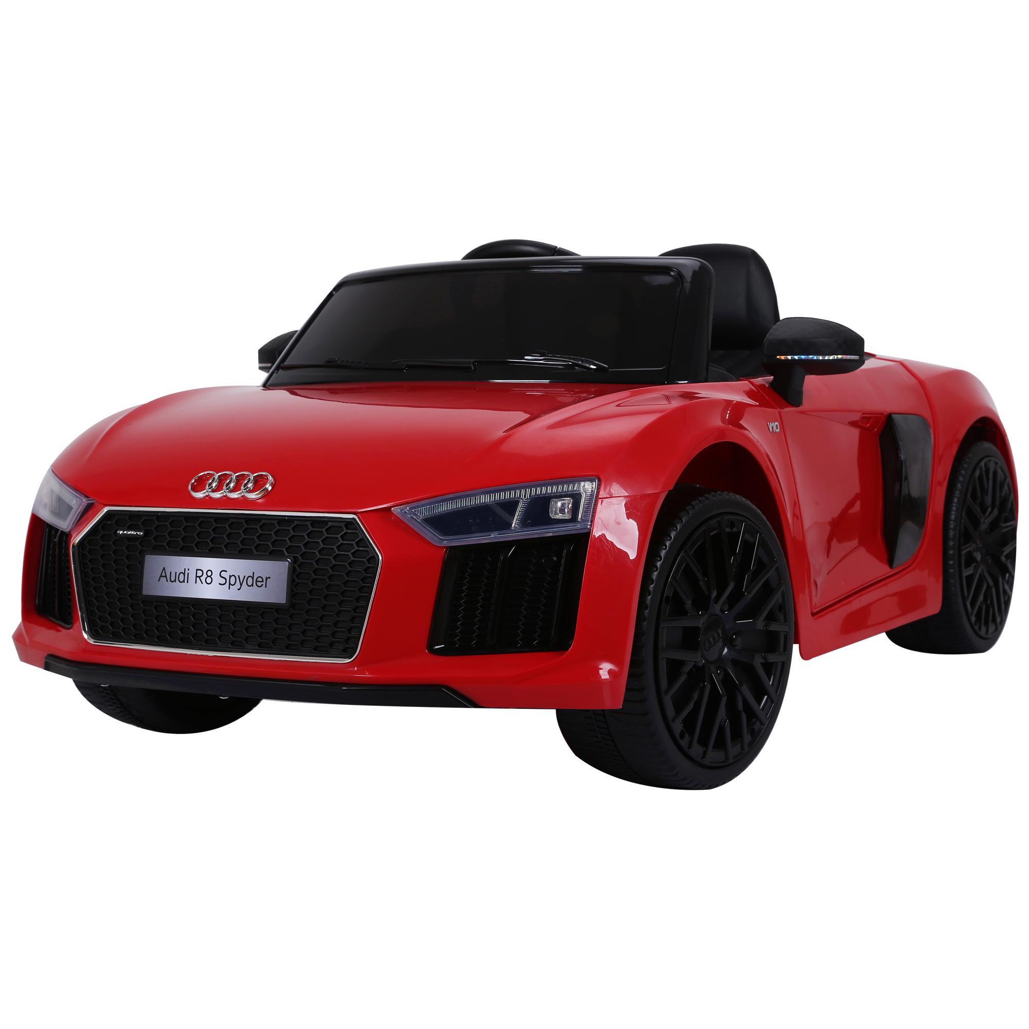 Coche-Electrico-para-Nino-3-8-Anos-Audi-R8-Bateria-12V-Control-Remoto-Carga-30kg miniatura 15