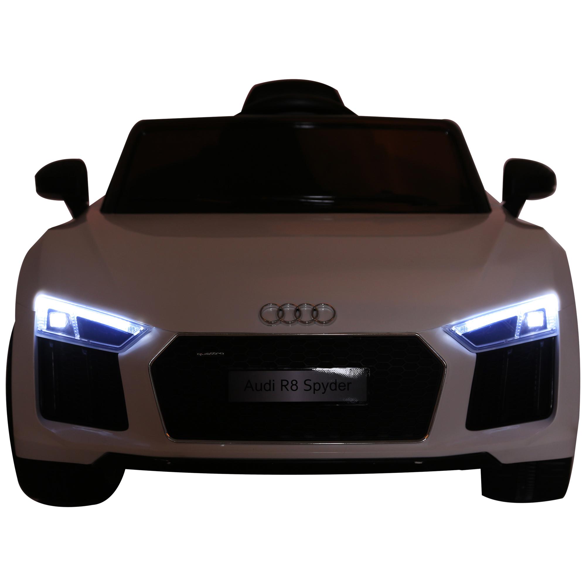 Coche-Electrico-para-Nino-3-8-Anos-Audi-R8-Bateria-12V-Control-Remoto-Carga-30kg miniatura 7