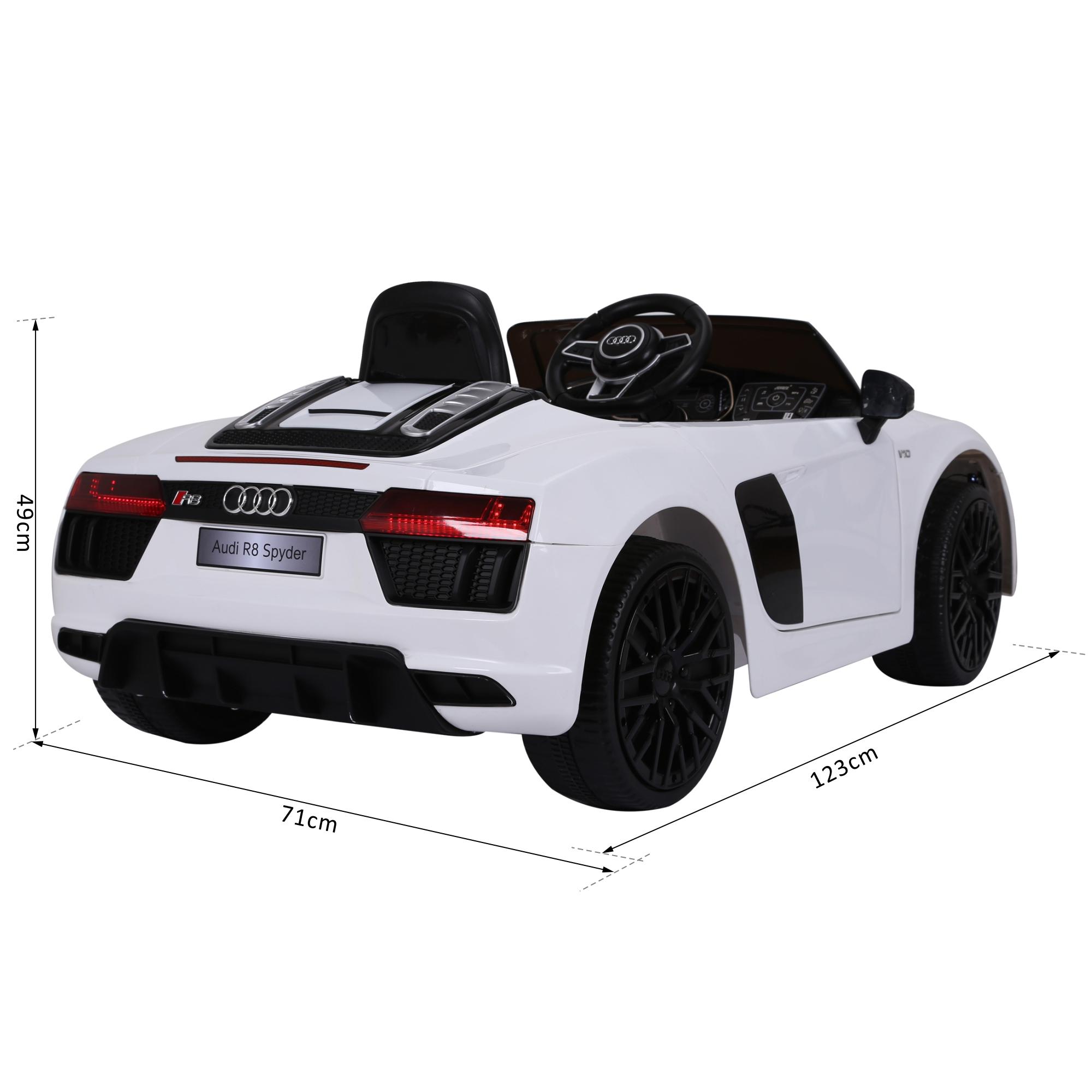 Coche-Electrico-para-Nino-3-8-Anos-Audi-R8-Bateria-12V-Control-Remoto-Carga-30kg miniatura 9