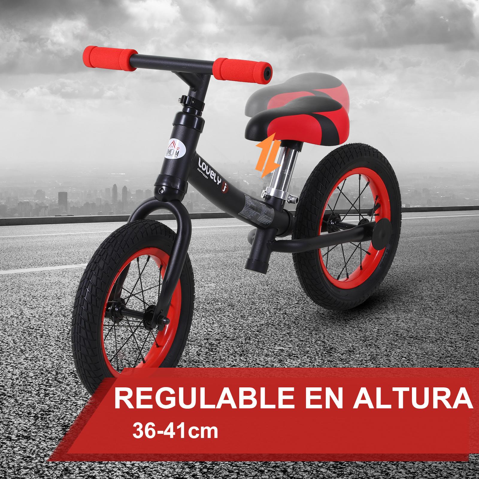 Bicicleta-sin-Pedales-de-Altura-de-Asiento-Regulable-31-45cm-2-5-Anos miniatura 5