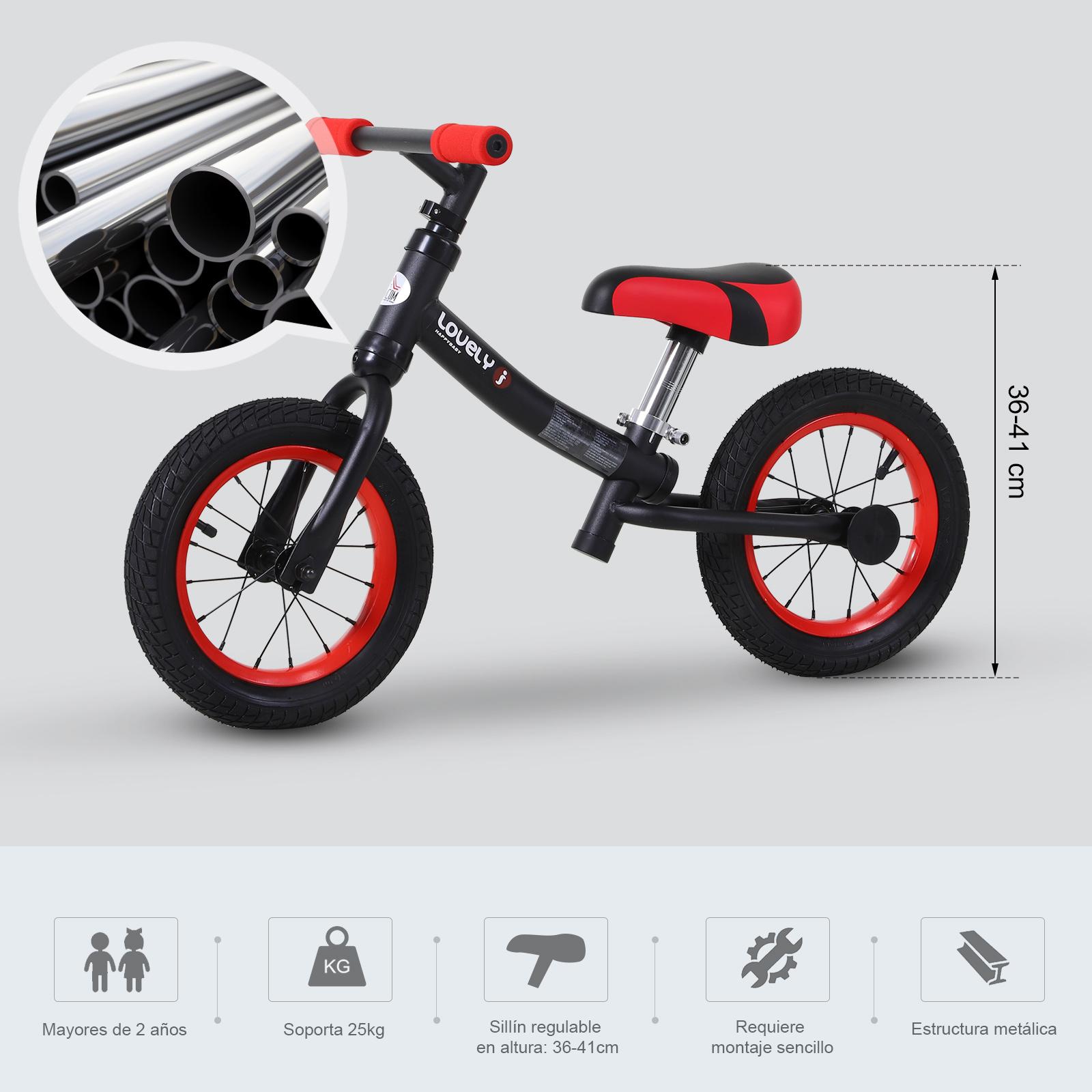 Bicicleta-sin-Pedales-de-Altura-de-Asiento-Regulable-31-45cm-2-5-Anos miniatura 6