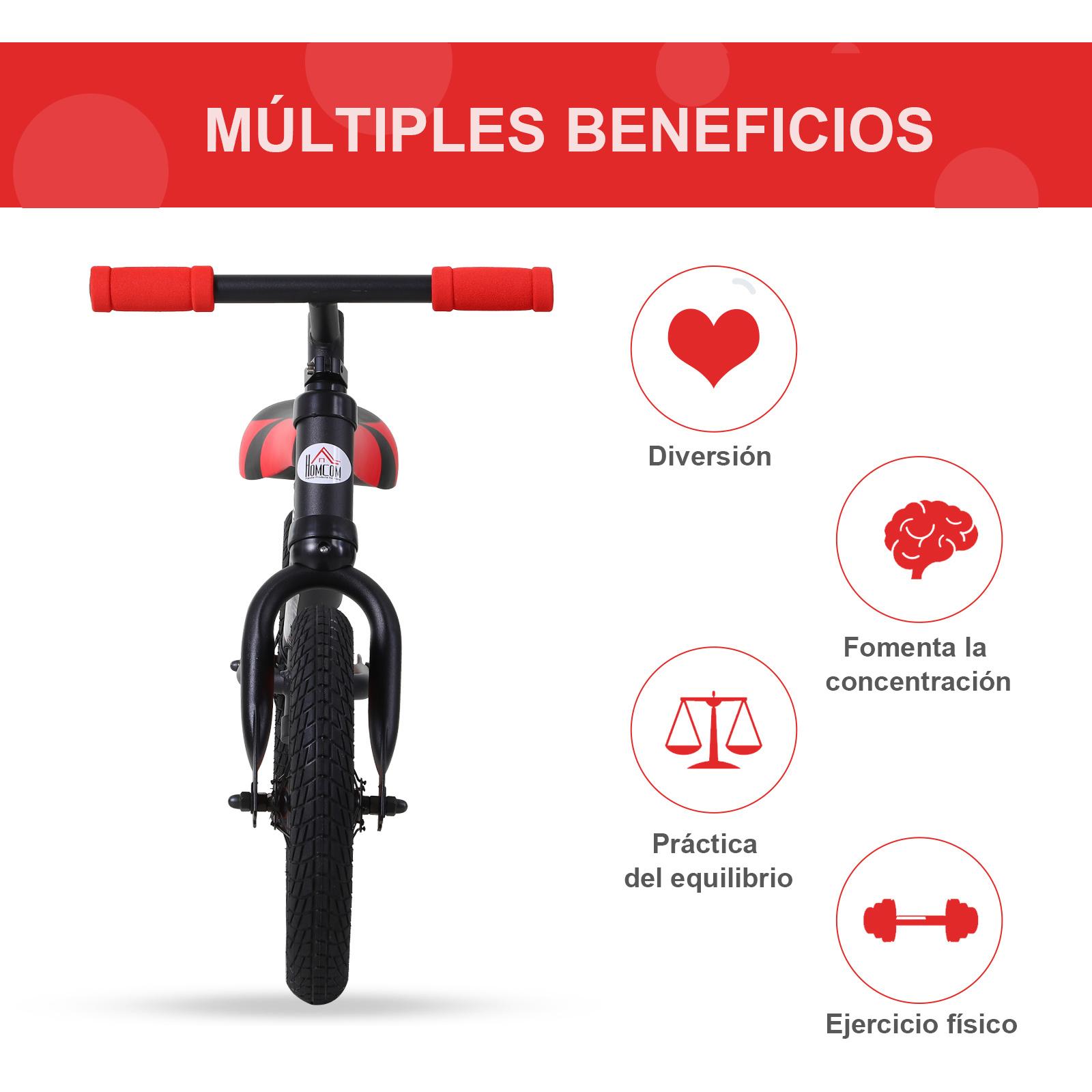 Bicicleta-sin-Pedales-de-Altura-de-Asiento-Regulable-31-45cm-2-5-Anos miniatura 7