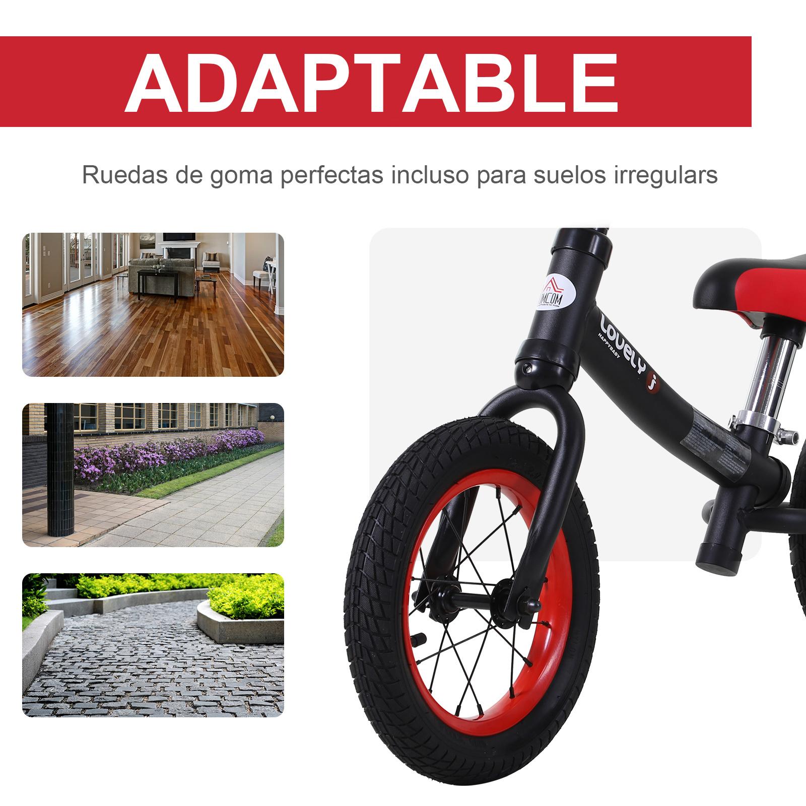 Bicicleta-sin-Pedales-de-Altura-de-Asiento-Regulable-31-45cm-2-5-Anos miniatura 8