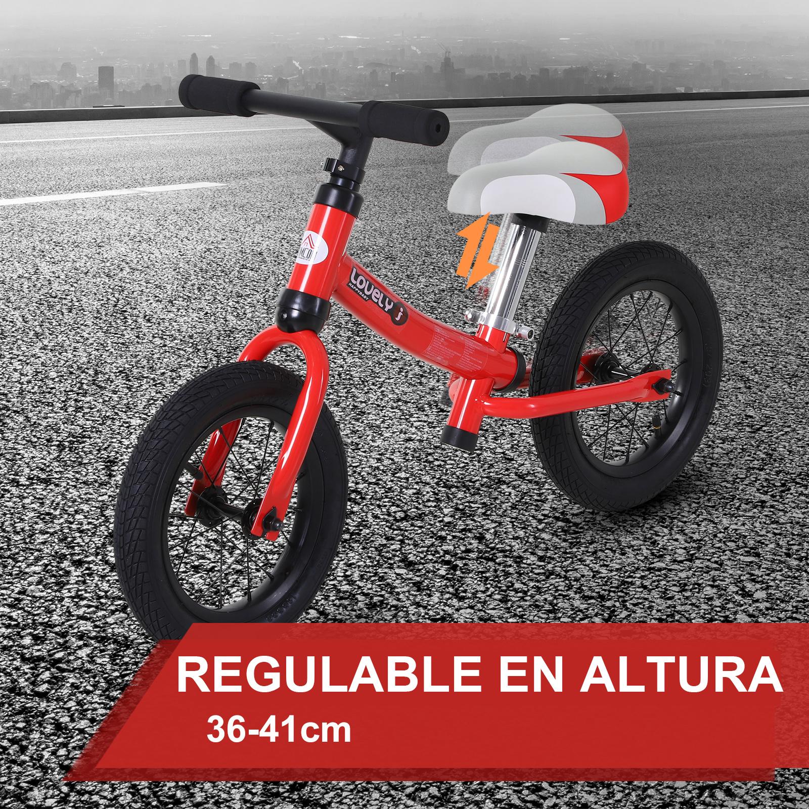 Bicicleta-sin-Pedales-de-Altura-de-Asiento-Regulable-31-45cm-2-5-Anos miniatura 16