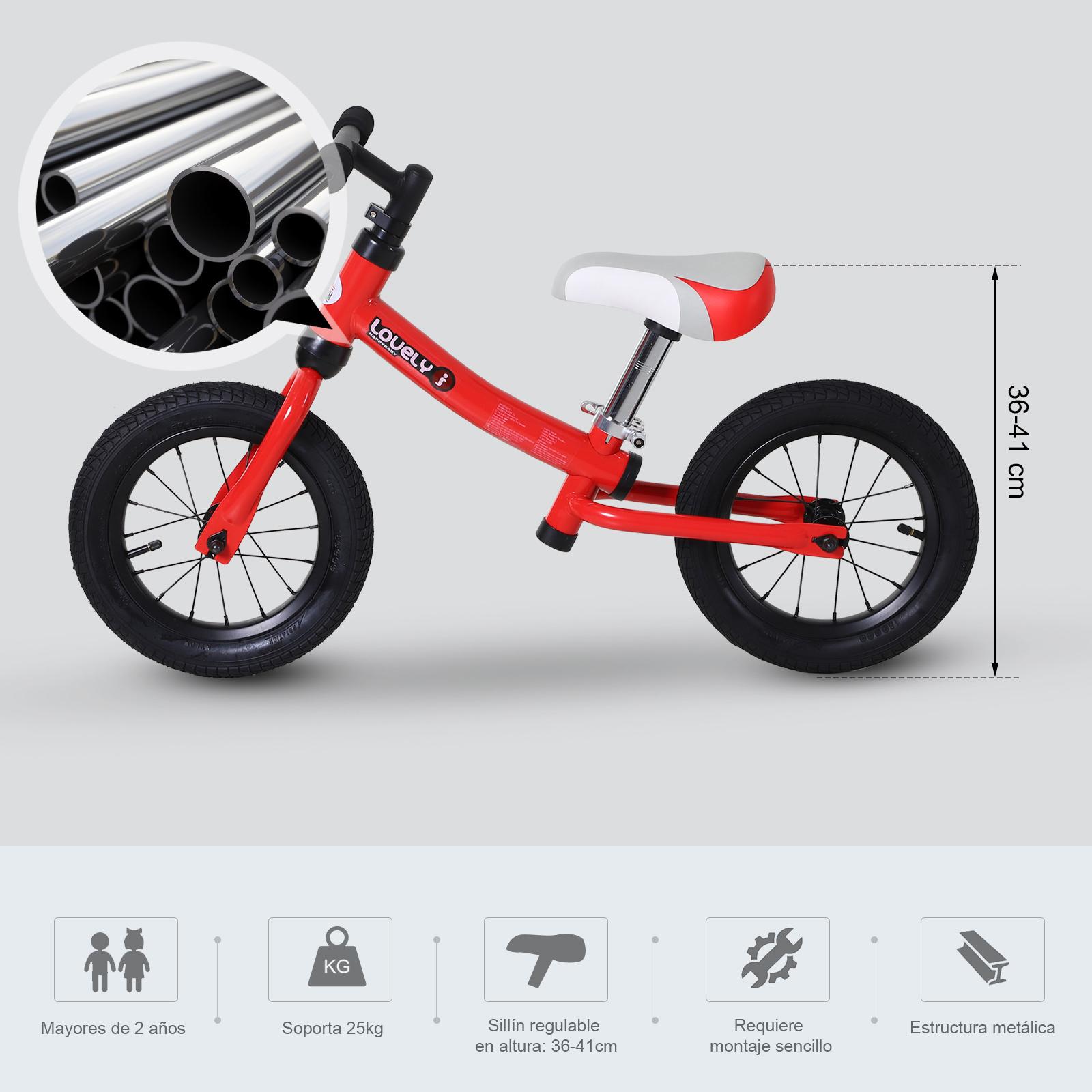 Bicicleta-sin-Pedales-de-Altura-de-Asiento-Regulable-31-45cm-2-5-Anos miniatura 17