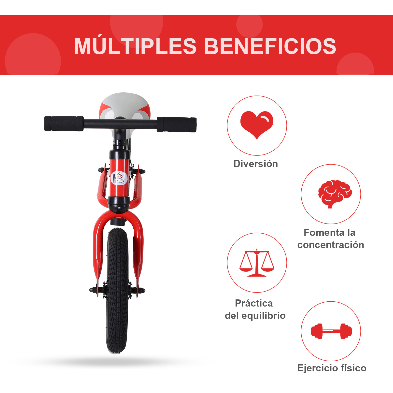 Bicicleta-sin-Pedales-de-Altura-de-Asiento-Regulable-31-45cm-2-5-Anos miniatura 18