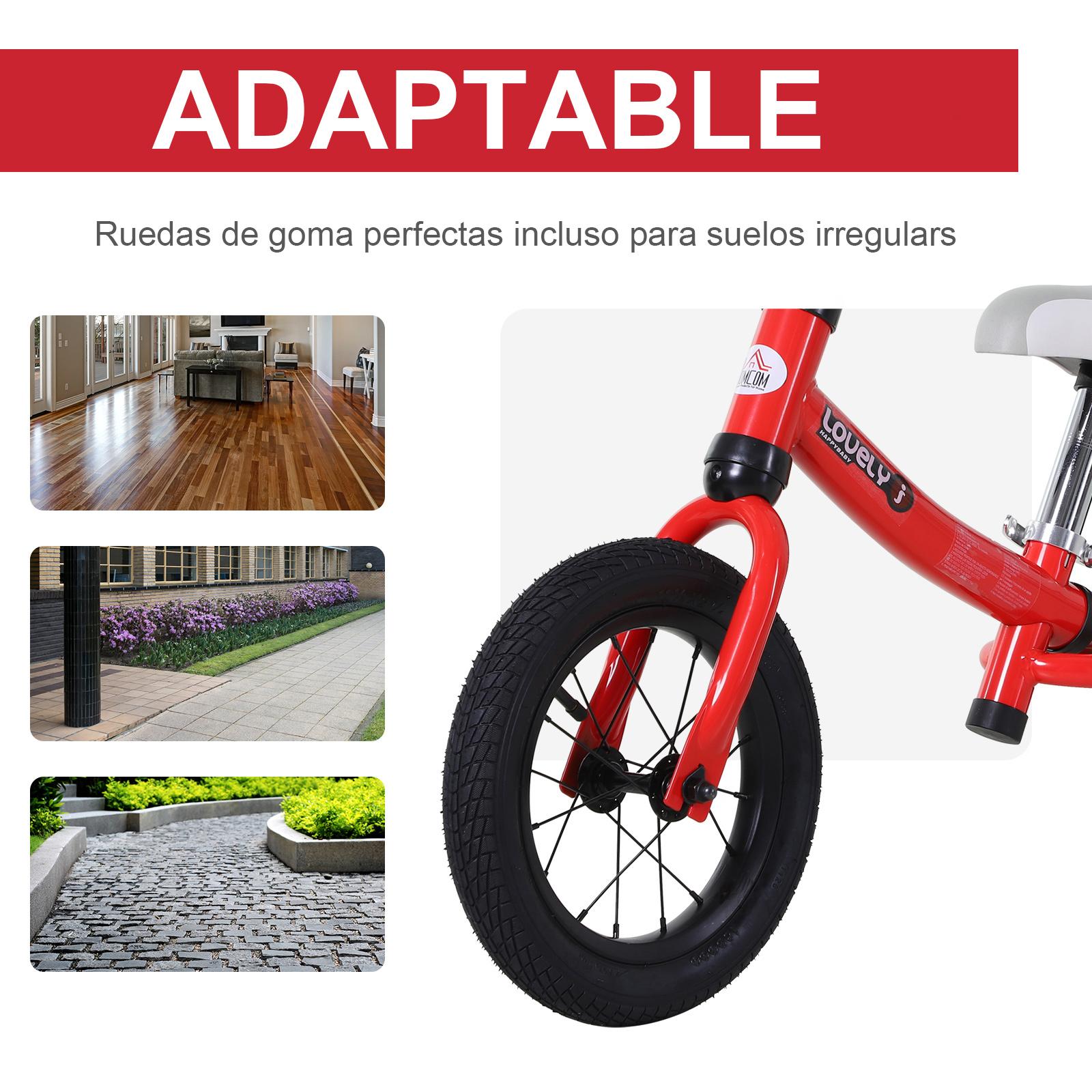 Bicicleta-sin-Pedales-de-Altura-de-Asiento-Regulable-31-45cm-2-5-Anos miniatura 19