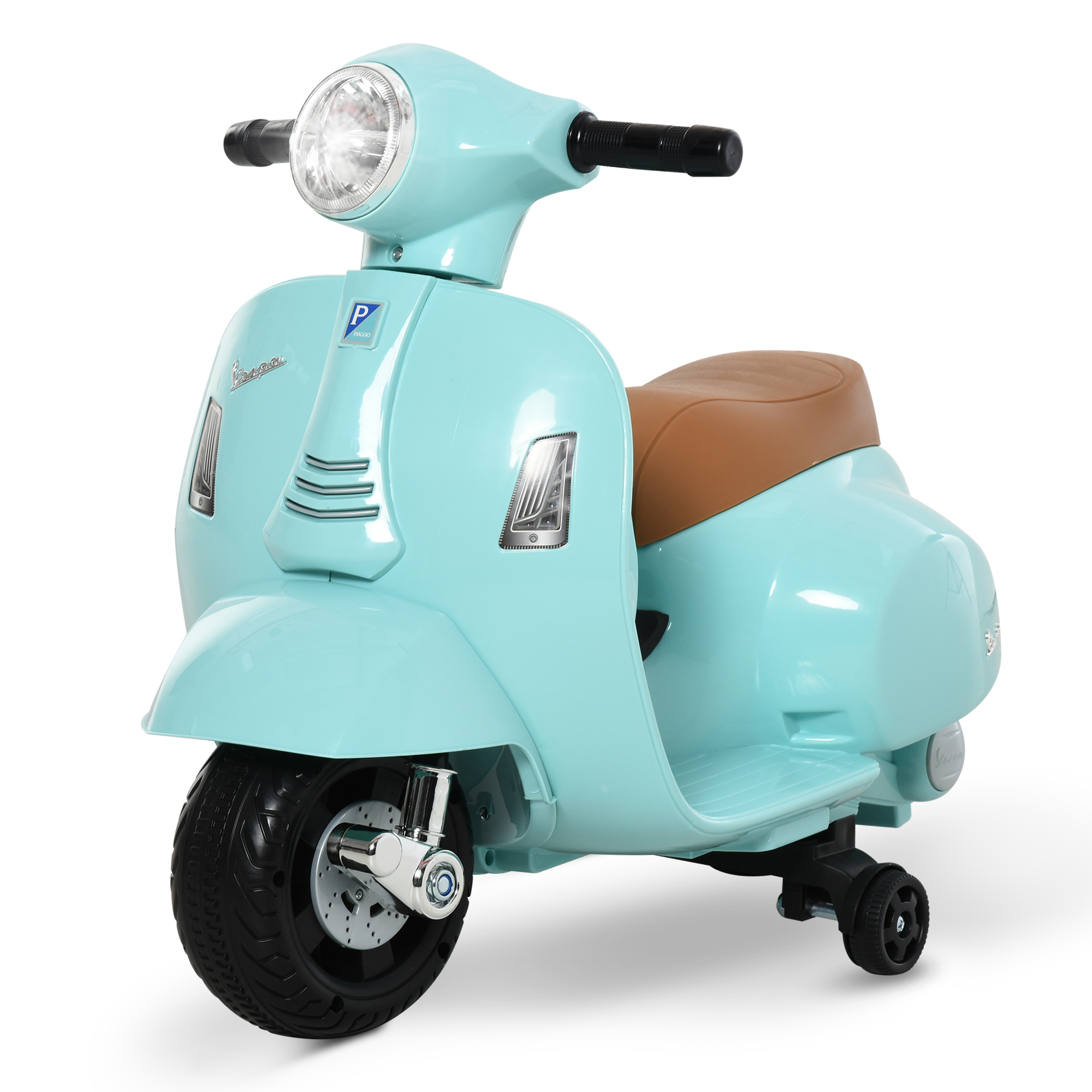 miniatura 18 - Moto Eléctrica Vespa para Niños +18 Meses con Faro Bocina y 4 Ruedas COLOR