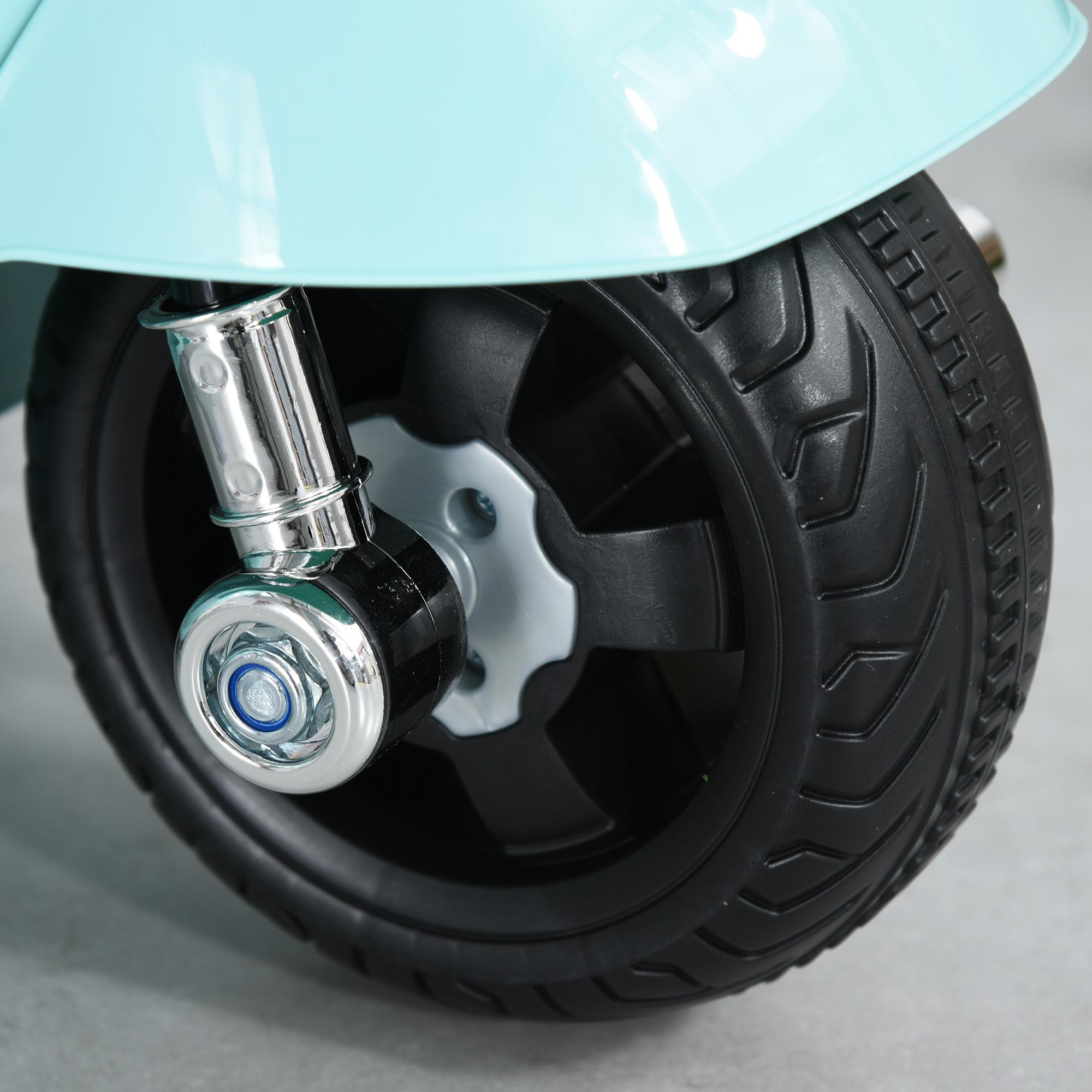 miniatura 25 - Moto Eléctrica Vespa para Niños +18 Meses con Faro Bocina y 4 Ruedas COLOR