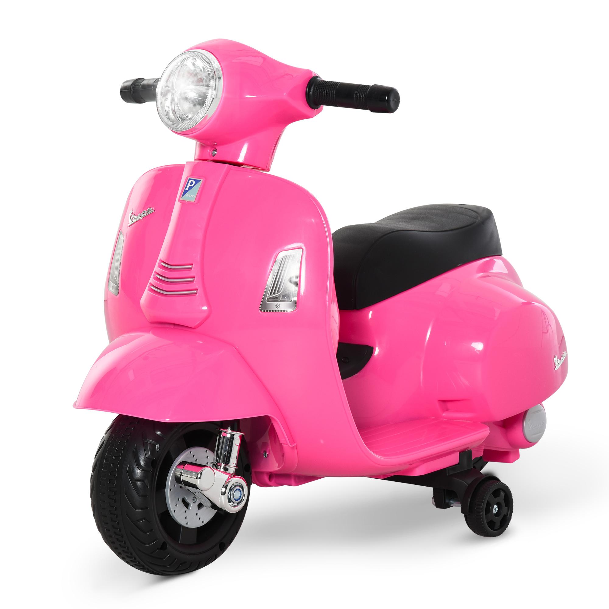 miniatura 9 - Moto Eléctrica Vespa para Niños +18 Meses con Faro Bocina y 4 Ruedas COLOR