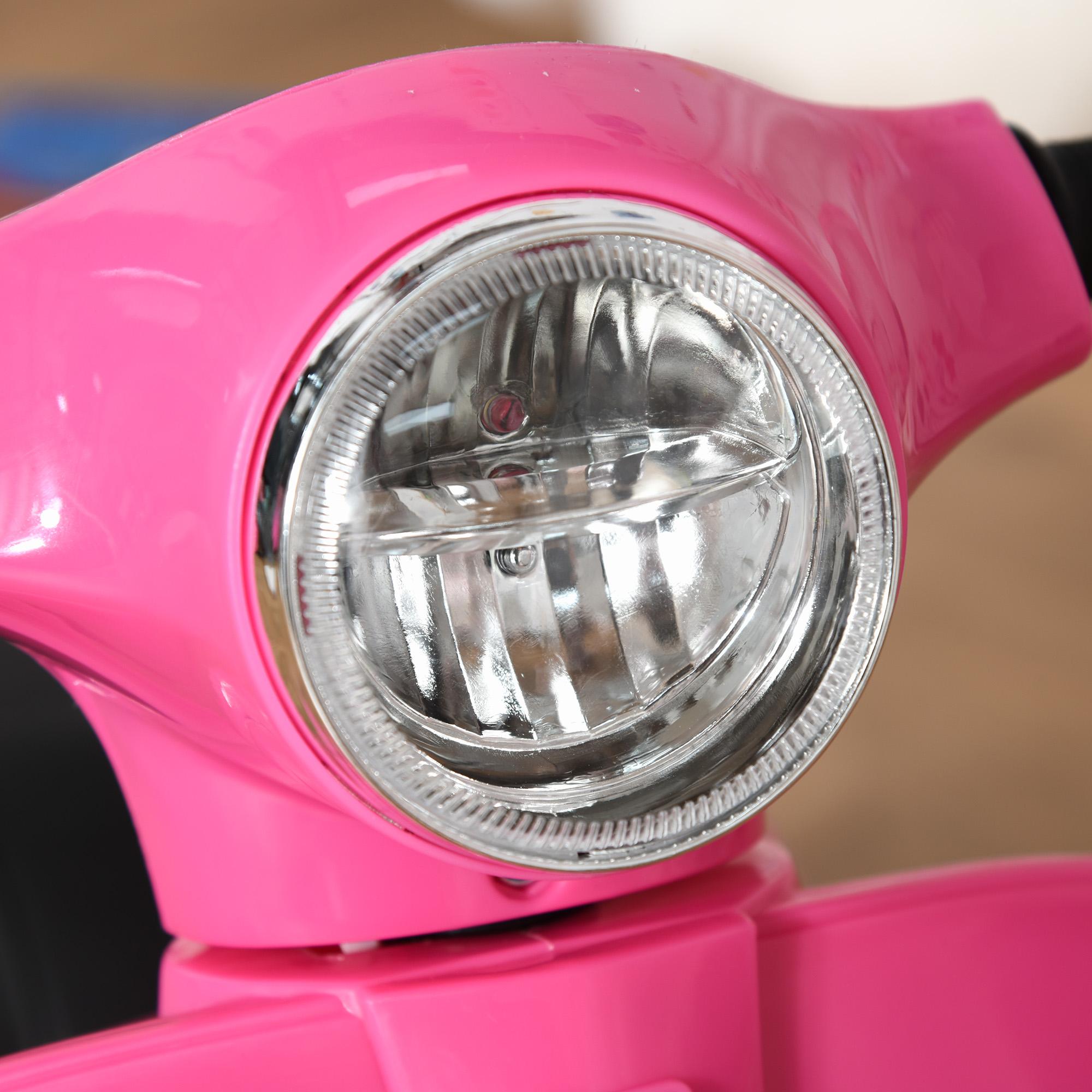 miniatura 15 - Moto Eléctrica Vespa para Niños +18 Meses con Faro Bocina y 4 Ruedas COLOR