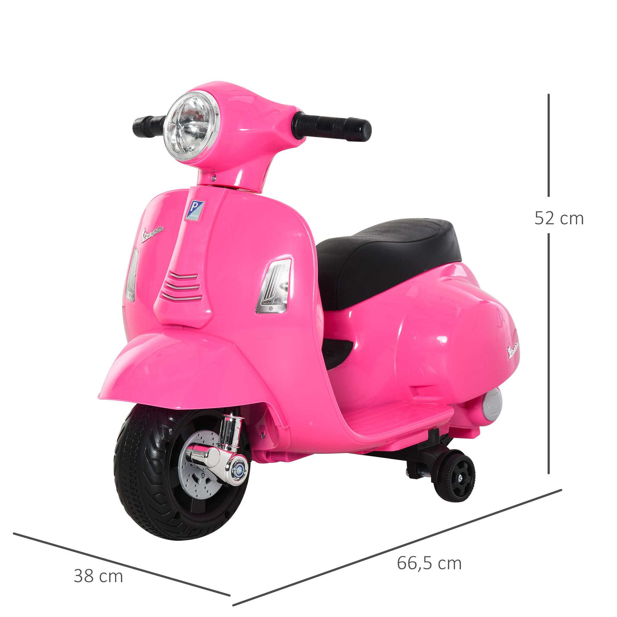 miniatura 14 - Moto Eléctrica Vespa para Niños +18 Meses con Faro Bocina y 4 Ruedas COLOR