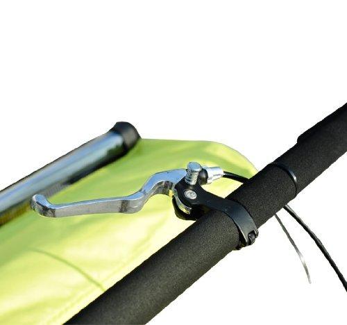 Remolque-Bicicleta-Nino-2-PLAZAS-Amortiguador-Kit-Footing-Freno-Bandera-Cubierta