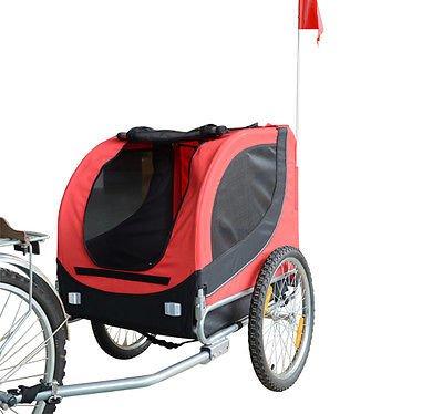 Remolque-Bicicleta-Perro-Mascota-1-Bandera-6-Reflectores-1-Barra-de-Traccion miniatura 10