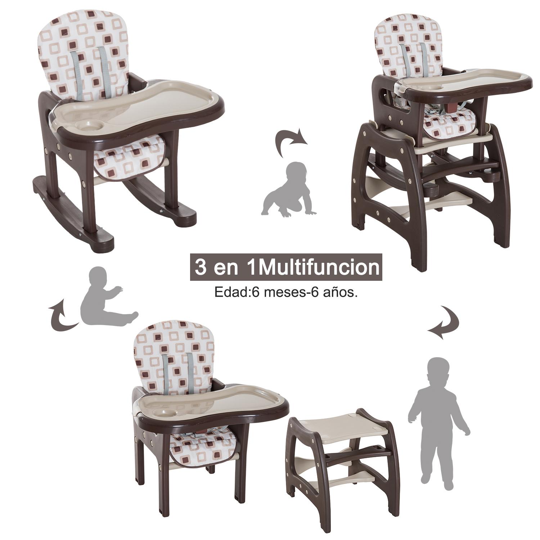 3-en-1-Sillita-Trona-Mecedora-Balancin-Bebe-Convertible-Multifuncional-Infantil miniatura 50