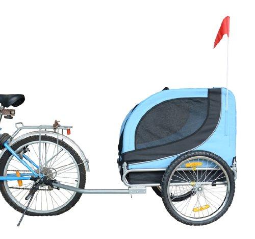 Remolque-Bicicleta-Perro-Mascota-1-Bandera-6-Reflectores-1-Barra-de-Traccion miniatura 4