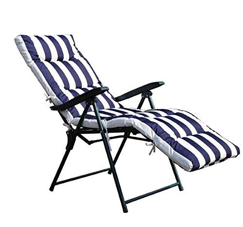 Tumbonas-2Pack-Acero-Plegable-Inclinable-Acolchado-Reposapies-Playa-Camping-Pack