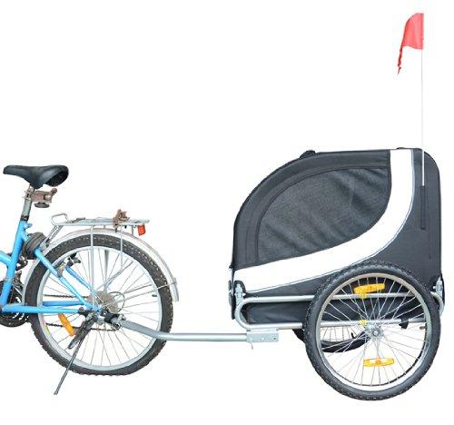 Remolque-Bicicleta-Perro-Mascota-1-Bandera-6-Reflectores-1-Barra-de-Traccion miniatura 8