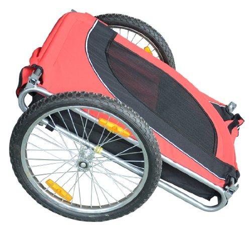 Remolque-Bicicleta-Perro-Mascota-1-Bandera-6-Reflectores-1-Barra-de-Traccion miniatura 15