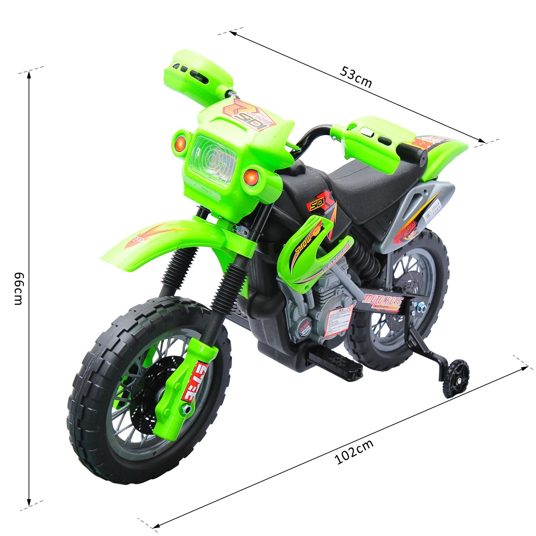Moto-Electrica-Infantil-Bateria-Recargable-6V-Ninos-3-Anos-Cargador-Ruedas-Apoyo miniatura 8