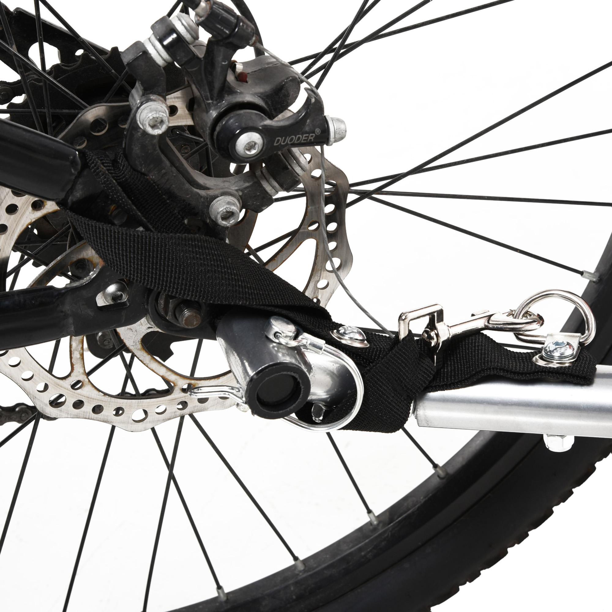 miniatura 37 - Remolque Bicicleta Niño 2 PLAZAS+Amortiguador Kit Footing Freno Bandera Cubierta