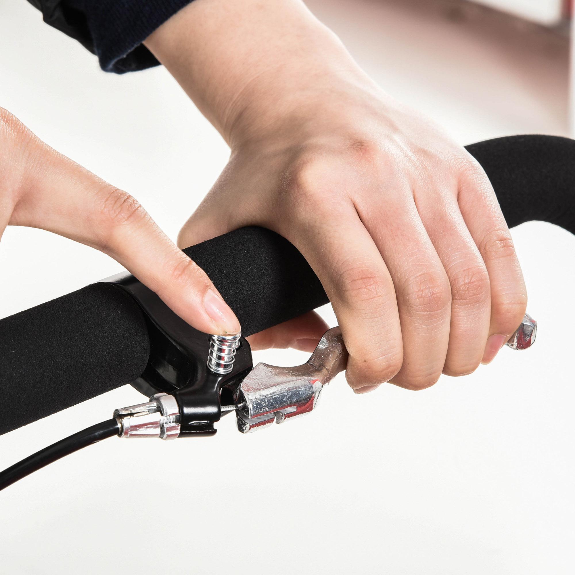 miniatura 25 - Remolque Bicicleta Niño 2 PLAZAS+Amortiguador Kit Footing Freno Bandera Cubierta