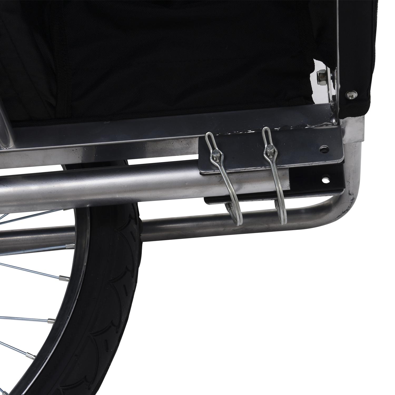 Remolque-Bicicleta-Nino-2-PLAZAS-Amortiguador-Kit-Footing-Freno-Bandera-Cubierta miniatura 15