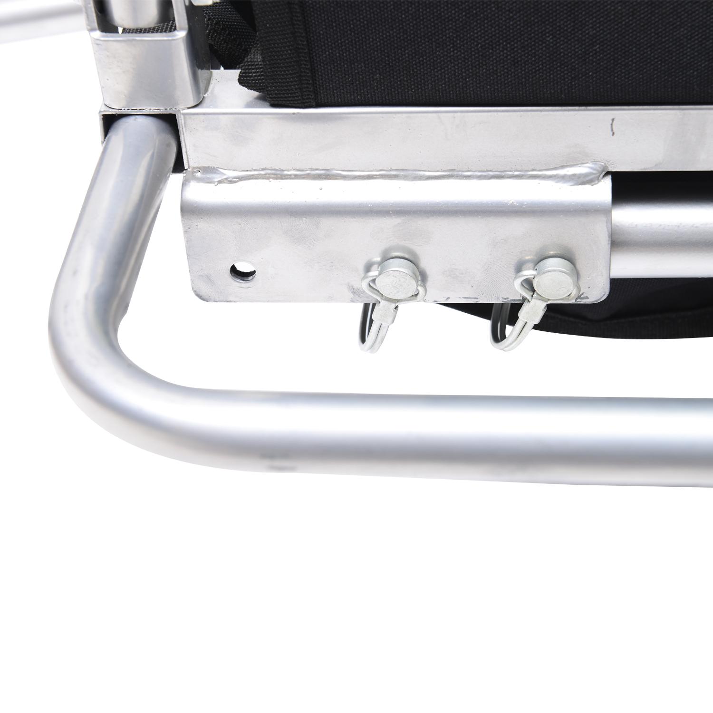 Remolque-Bicicleta-Nino-2-PLAZAS-Amortiguador-Kit-Footing-Freno-Bandera-Cubierta miniatura 8