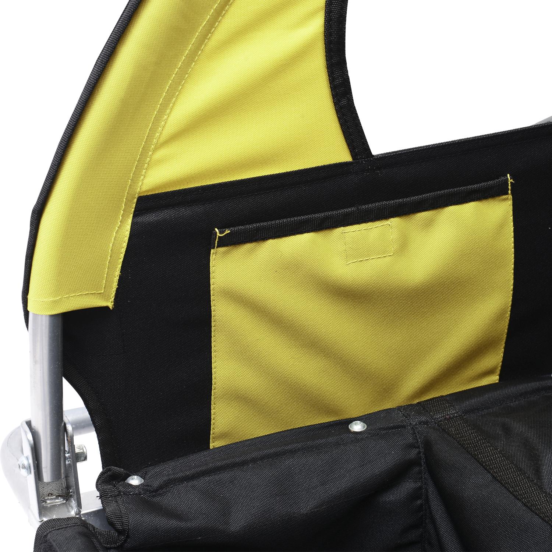 Remolque-Bicicleta-Nino-2-PLAZAS-Amortiguador-Kit-Footing-Freno-Bandera-Cubierta miniatura 13