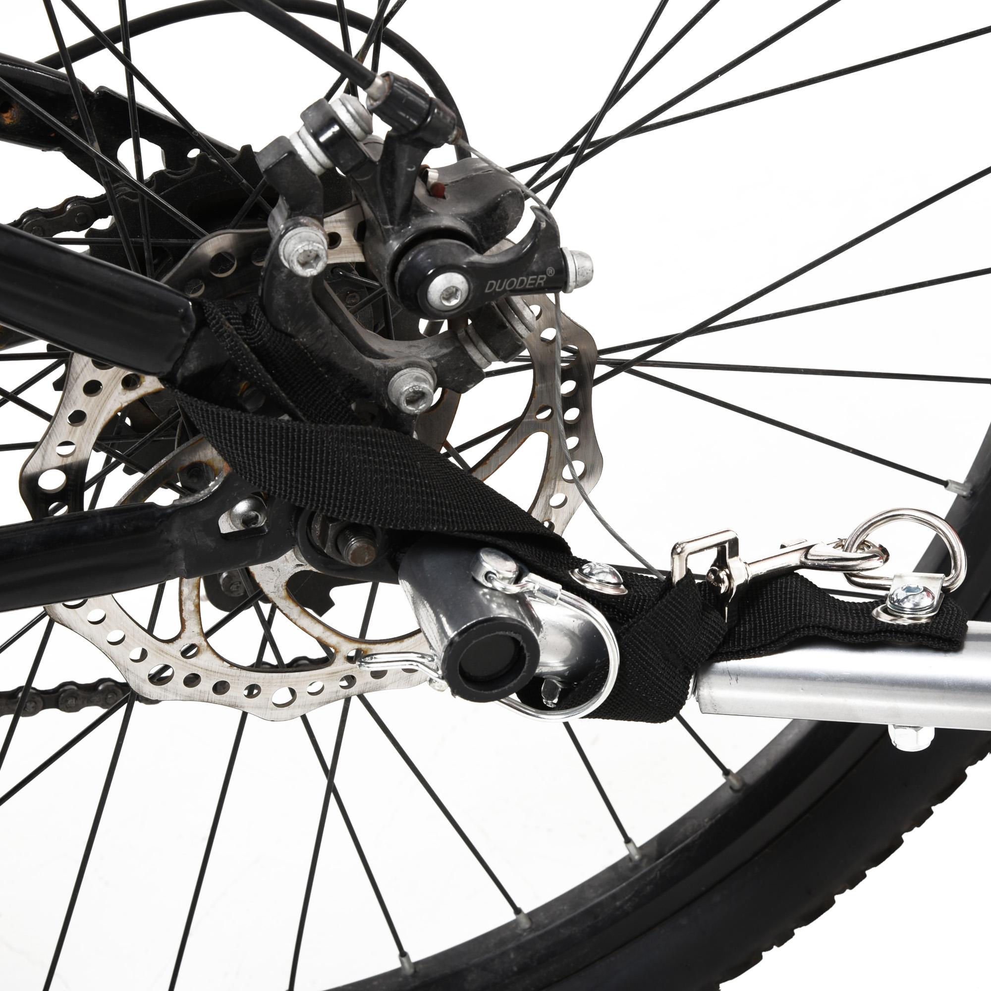 miniatura 12 - Remolque Bicicleta Niño 2 PLAZAS+Amortiguador Kit Footing Freno Bandera Cubierta