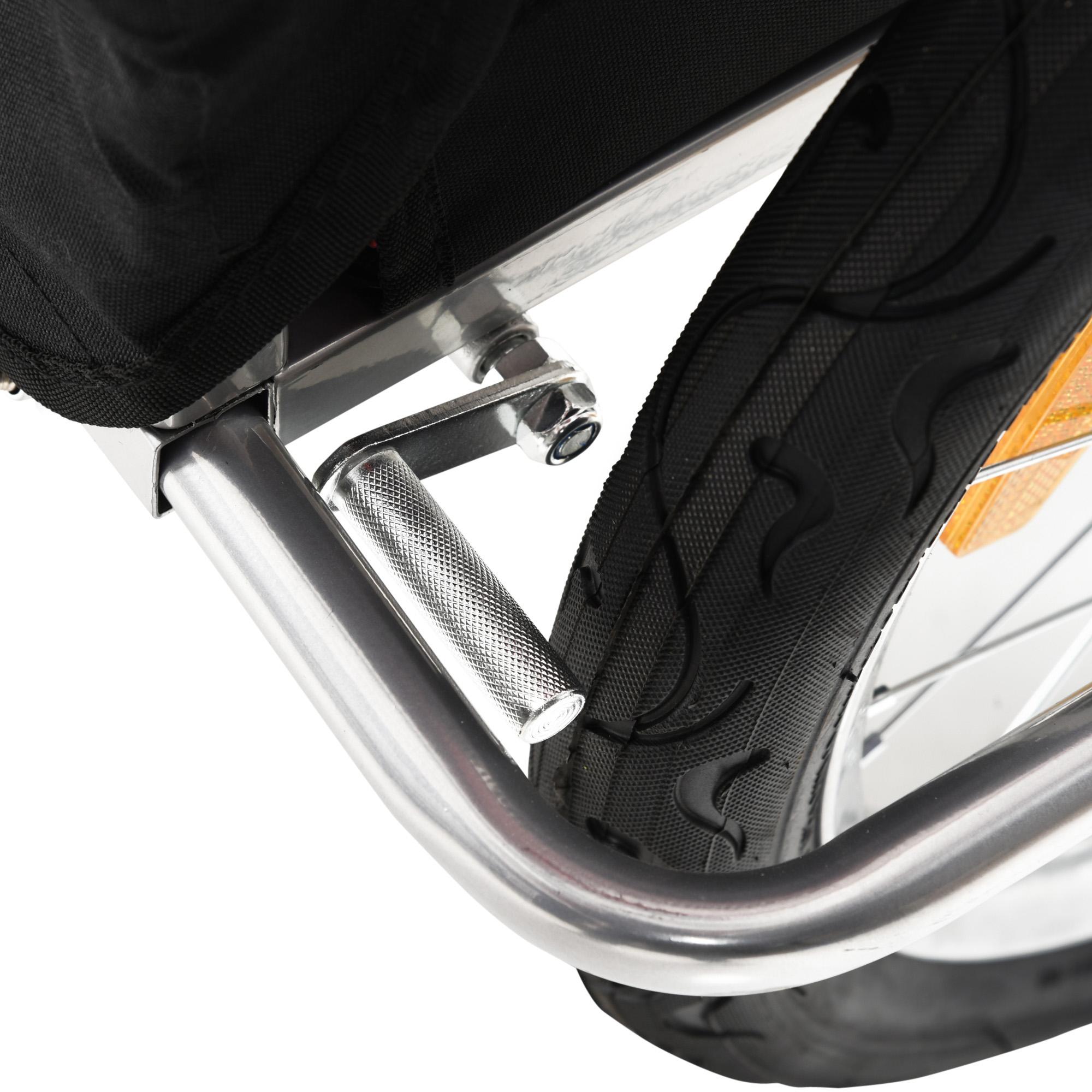 miniatura 44 - Remolque Bicicleta Niño 2 PLAZAS+Amortiguador Kit Footing Freno Bandera Cubierta