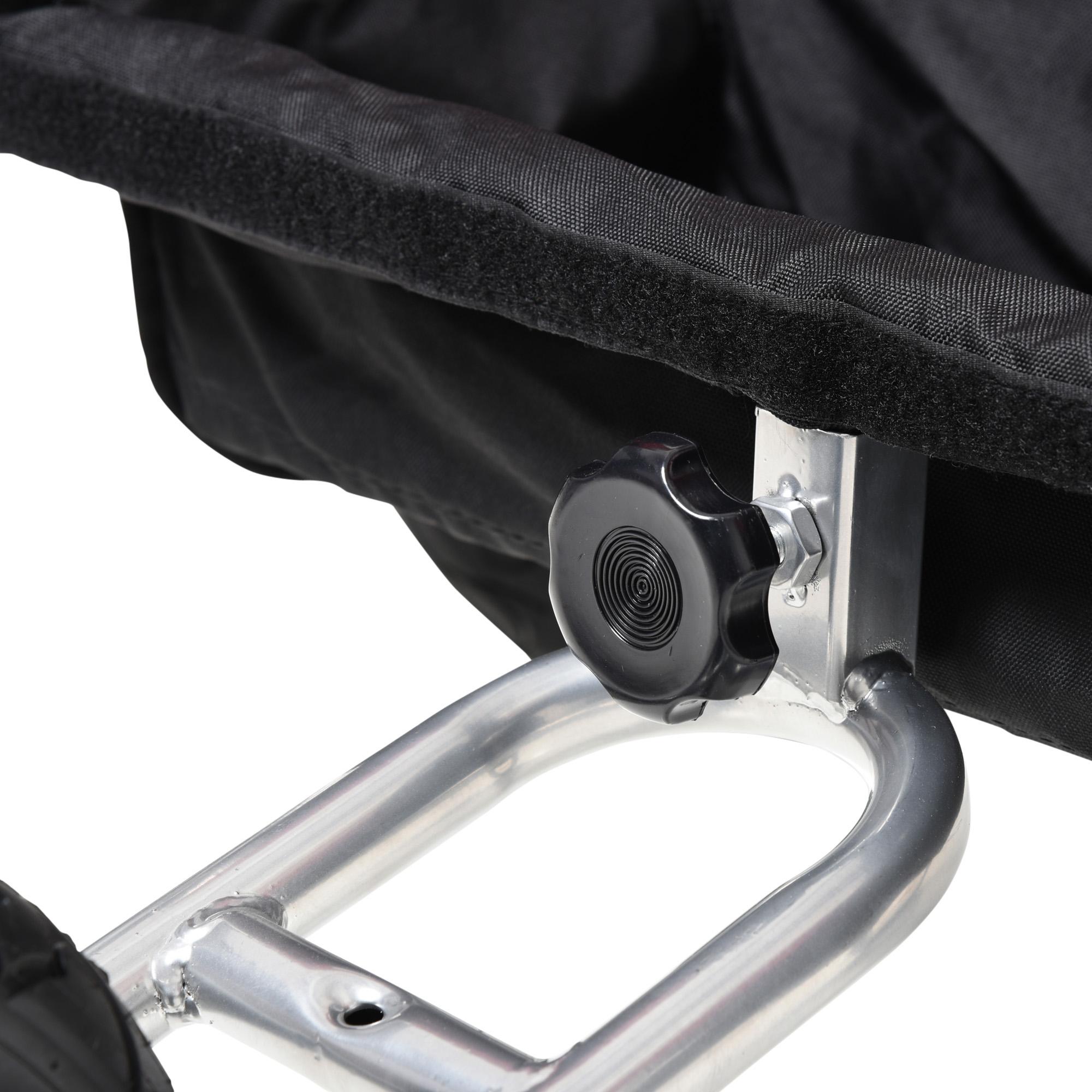 miniatura 43 - Remolque Bicicleta Niño 2 PLAZAS+Amortiguador Kit Footing Freno Bandera Cubierta