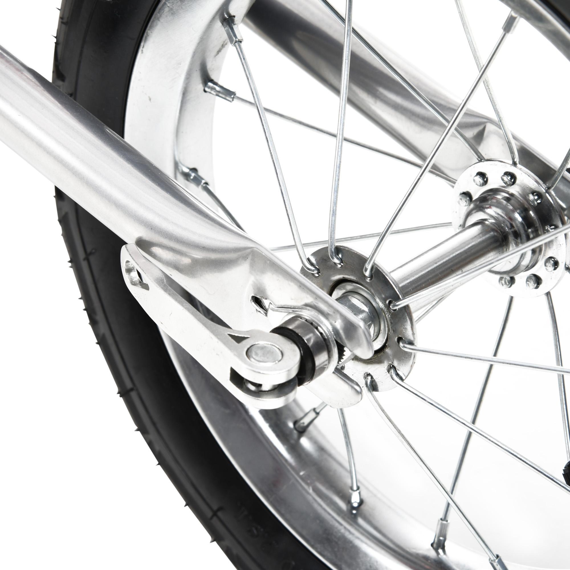 miniatura 47 - Remolque Bicicleta Niño 2 PLAZAS+Amortiguador Kit Footing Freno Bandera Cubierta