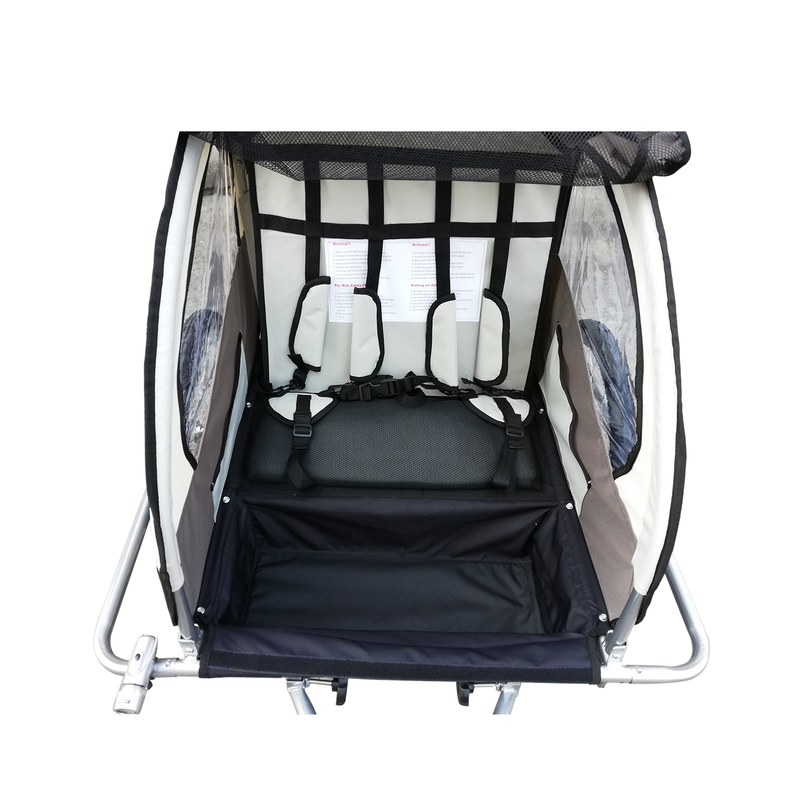 Remolque-Infantil-Bicicleta-2-PLAZAS-Kit-Footing-Rueda-360-Amortiguadores-Barra miniatura 22
