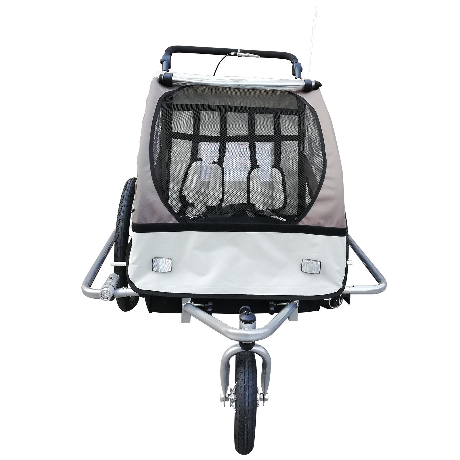 Remolque-Infantil-Bicicleta-2-PLAZAS-Kit-Footing-Rueda-360-Amortiguadores-Barra miniatura 23