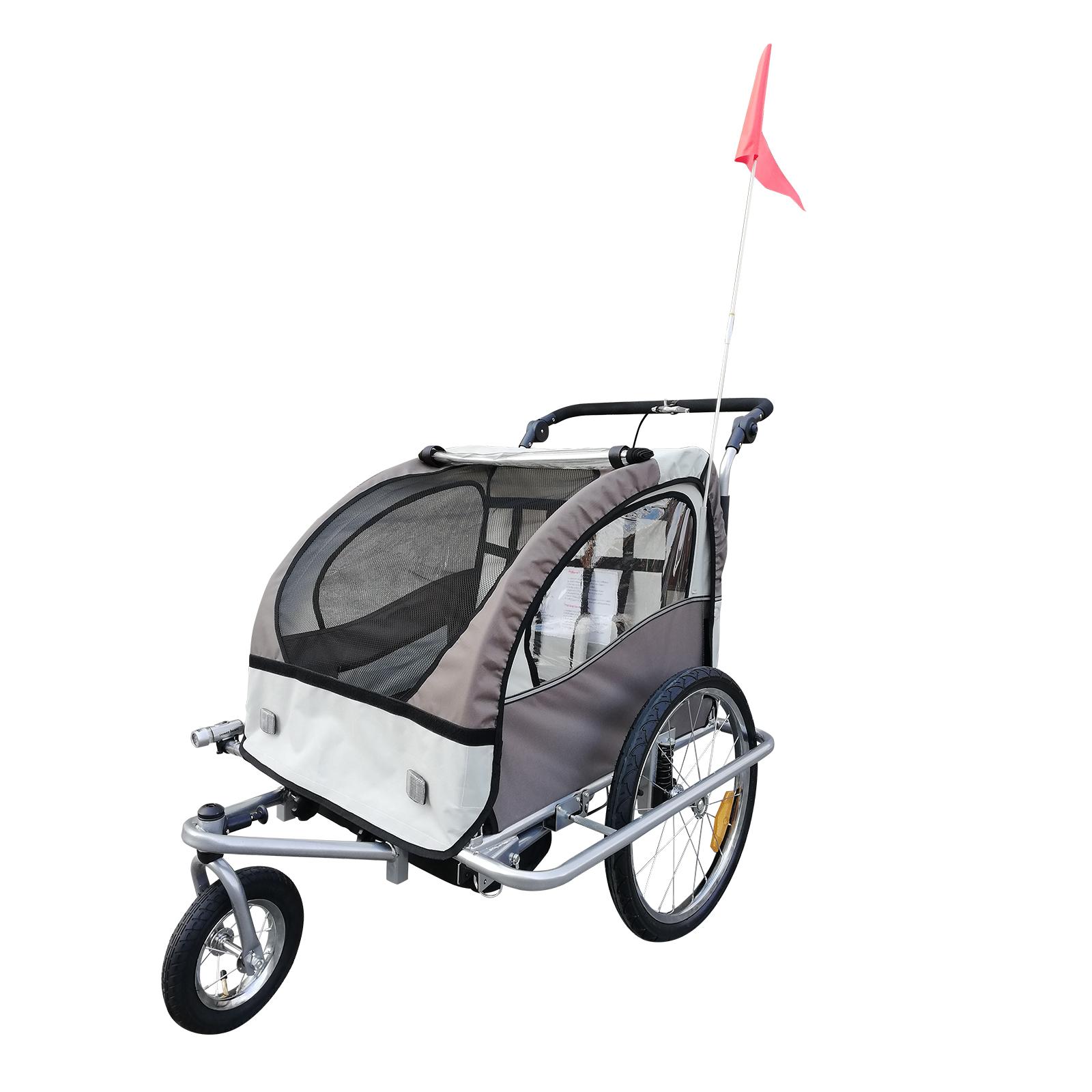 Remolque-Infantil-Bicicleta-2-PLAZAS-Kit-Footing-Rueda-360-Amortiguadores-Barra miniatura 24
