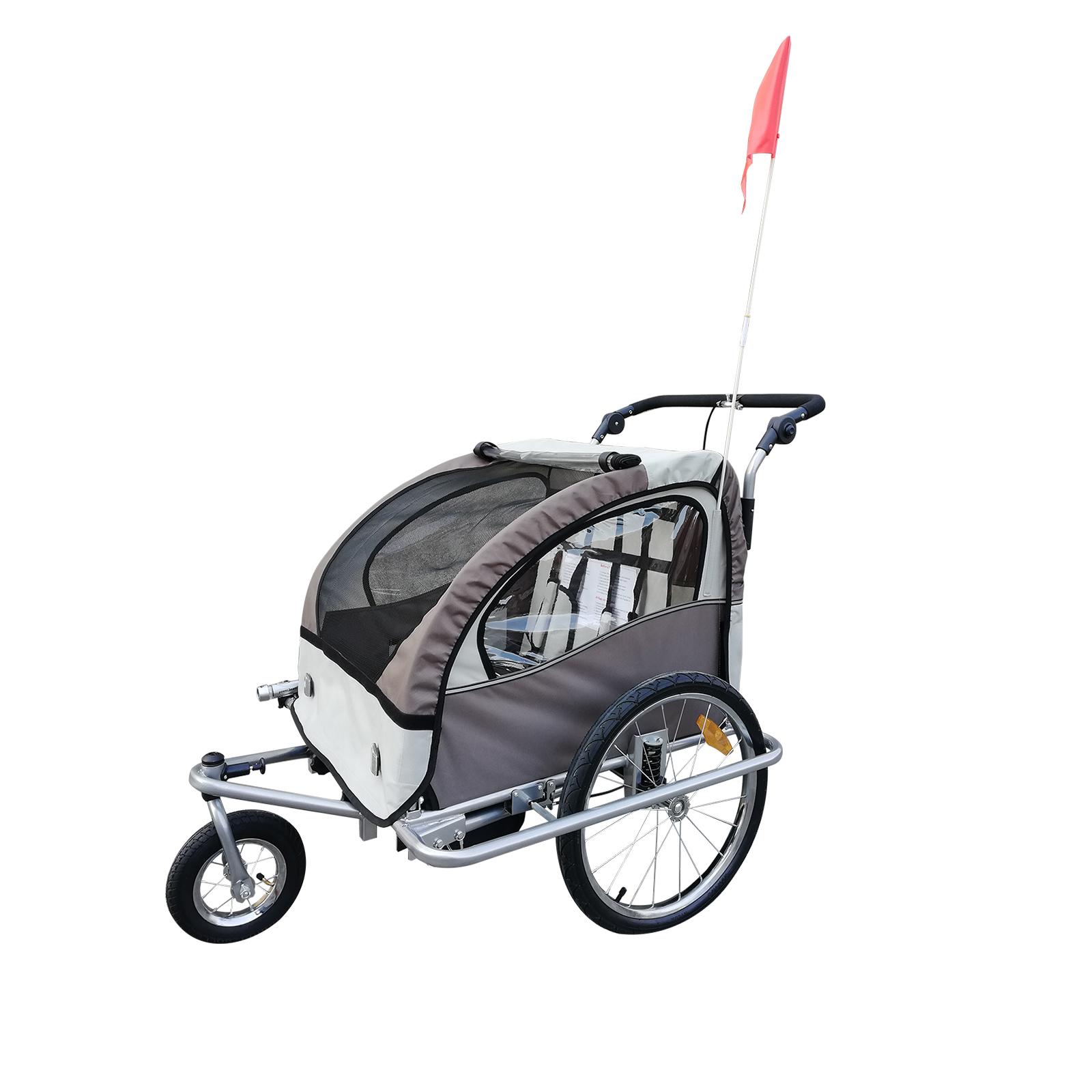 Remolque-Infantil-Bicicleta-2-PLAZAS-Kit-Footing-Rueda-360-Amortiguadores-Barra miniatura 25