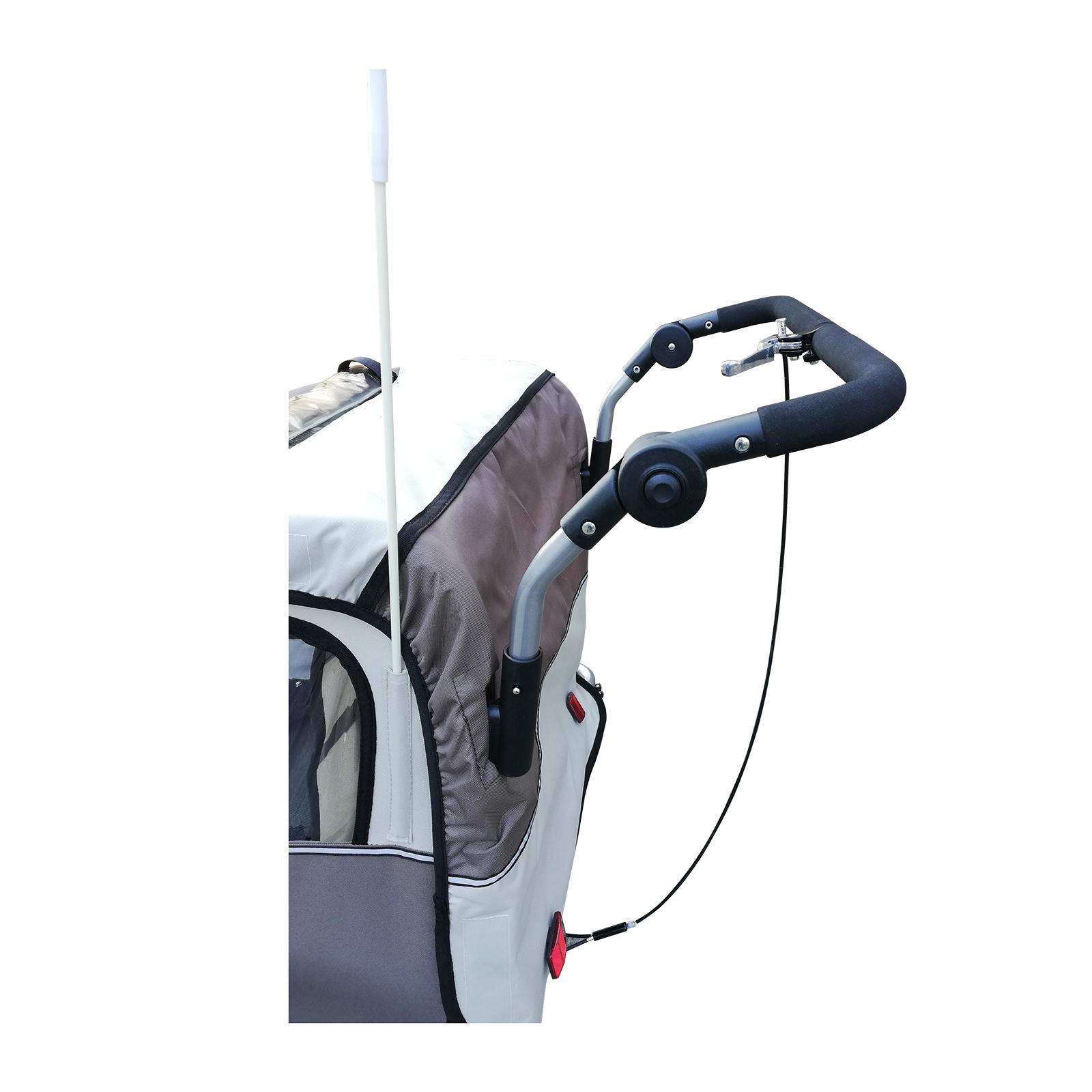 Remolque-Infantil-Bicicleta-2-PLAZAS-Kit-Footing-Rueda-360-Amortiguadores-Barra miniatura 17