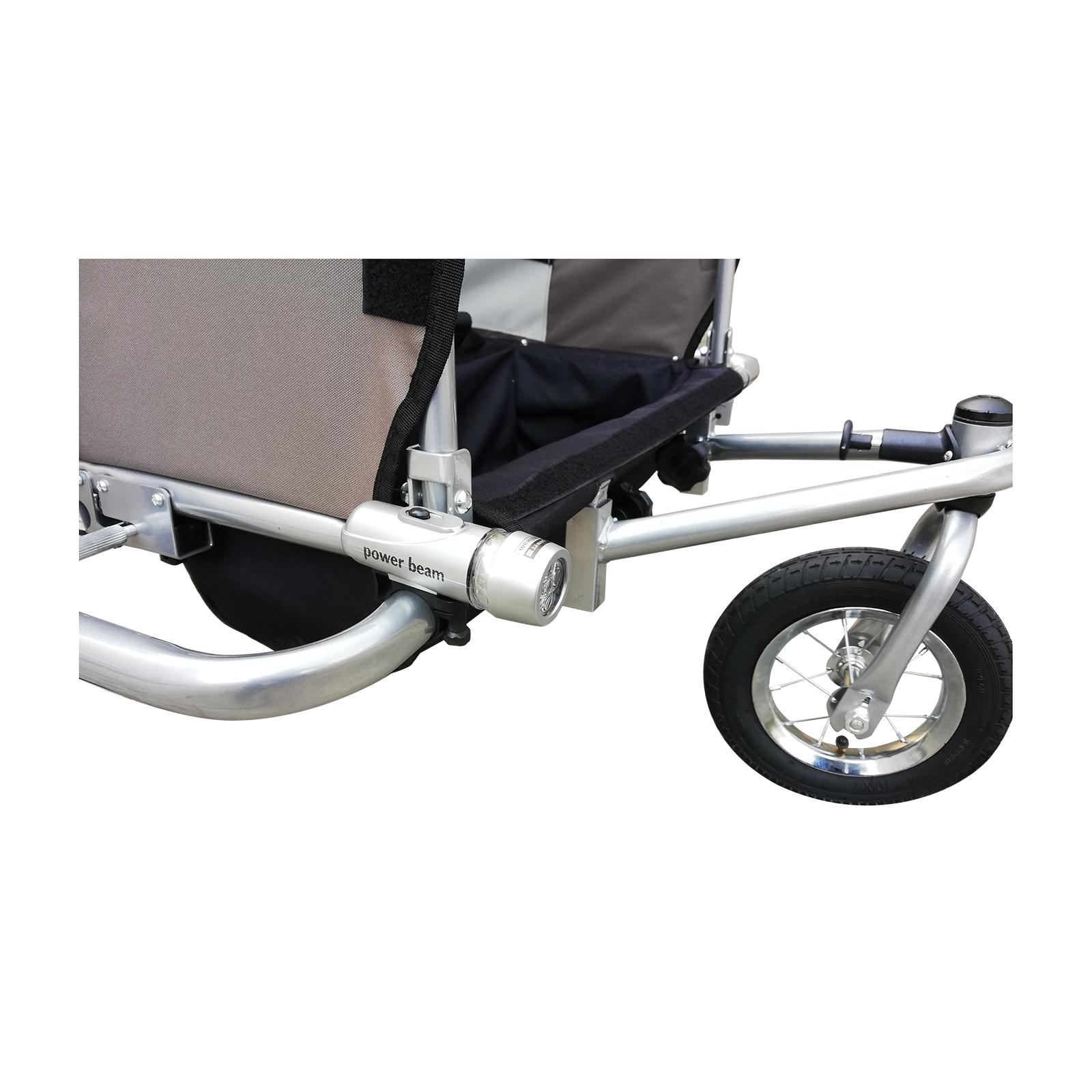 Remolque-Infantil-Bicicleta-2-PLAZAS-Kit-Footing-Rueda-360-Amortiguadores-Barra miniatura 19