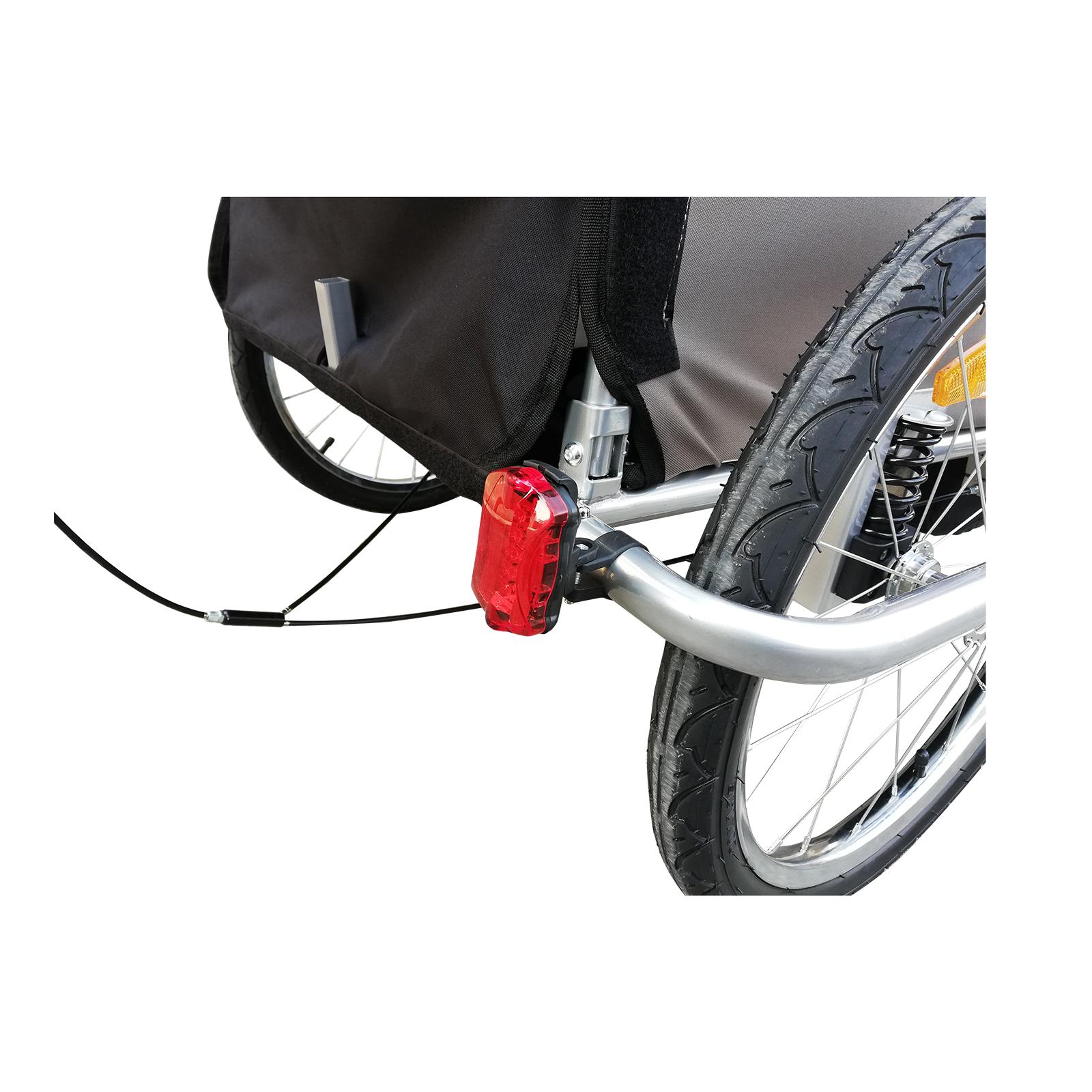 Remolque-Infantil-Bicicleta-2-PLAZAS-Kit-Footing-Rueda-360-Amortiguadores-Barra miniatura 21