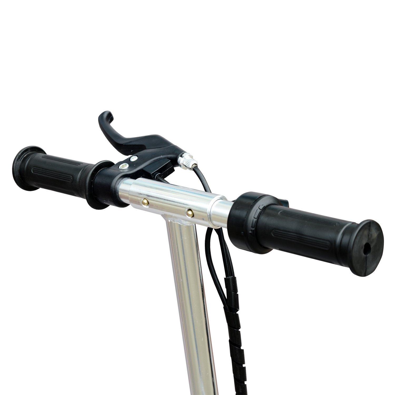 Patinete-Plegable-con-Manillar-Ajustable-tipo-Scooter-Electrico-de-Acero-Nuevo miniatura 6