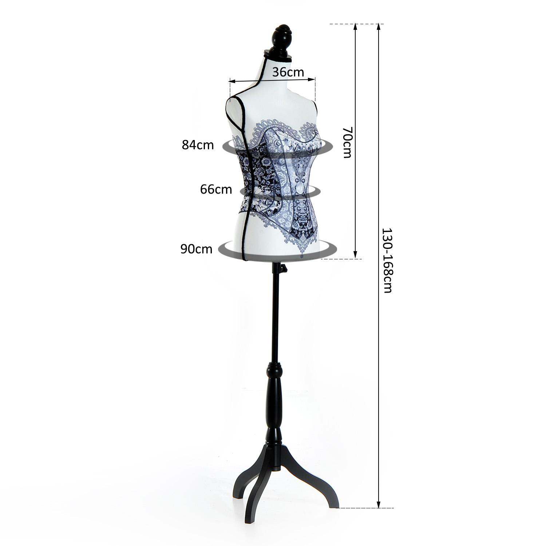 Maniqui-Femenino-de-Costura-Busto-de-Senora-para-Exposicion-Modista-130-168cm miniatura 19