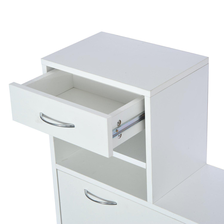 6121f6hrlel. sl1500  - Conjunto Muebles de Entrada Recibidor Pasillo 3 Piezas Perchero Espejo Zapatero