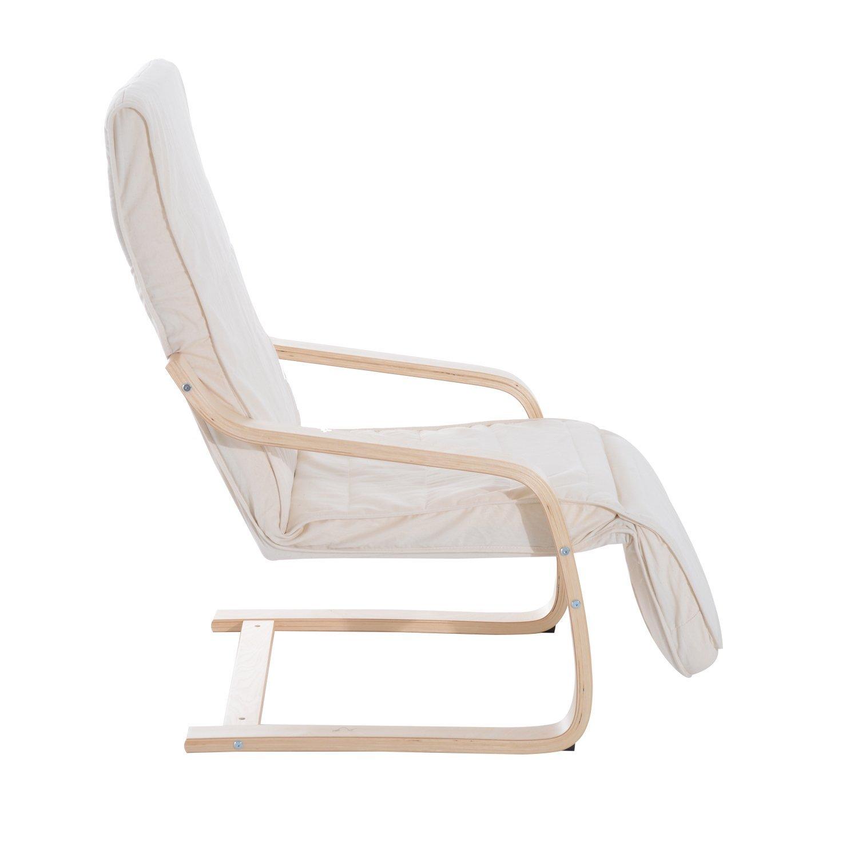 Sillon-de-Relax-Silla-de-Relax-Madera-de-Abedul-Reposapiernas-5-Niveles-2-Color miniatura 6