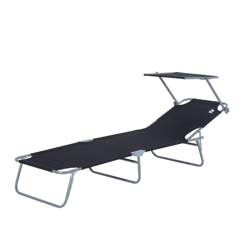 Tumbona-Inclinable-Aluminio-Plegable-Hamaca-Playa-Piscina-con-Parasol-NUEVO miniatura 31
