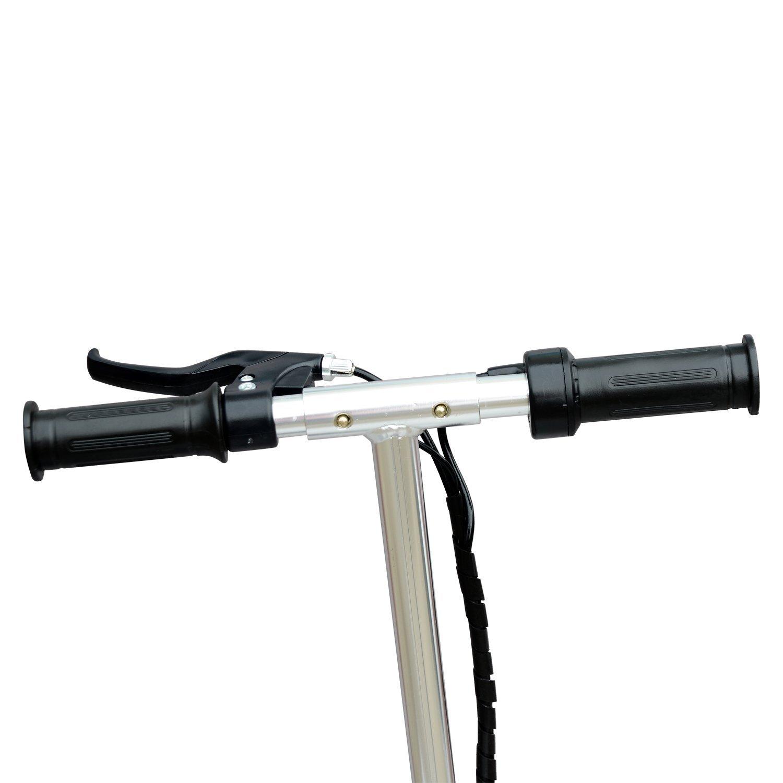 Patinete-Plegable-con-Manillar-Ajustable-tipo-Scooter-Electrico-de-Acero-Nuevo miniatura 17