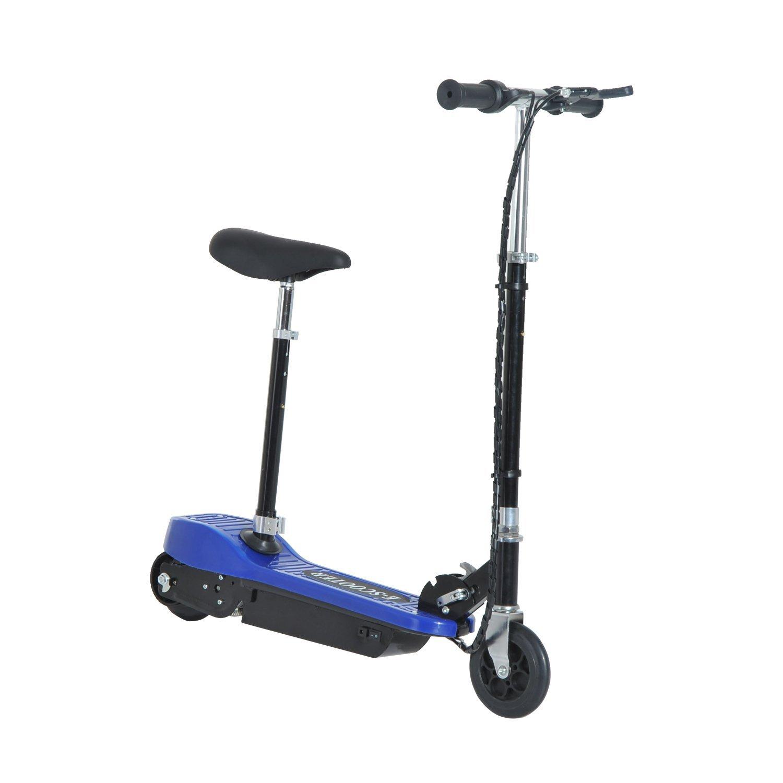 Patinete-Electrico-Plegable-E-Scooter-Bateria-120W-Manillar-Asiento-Ajustable miniatura 3