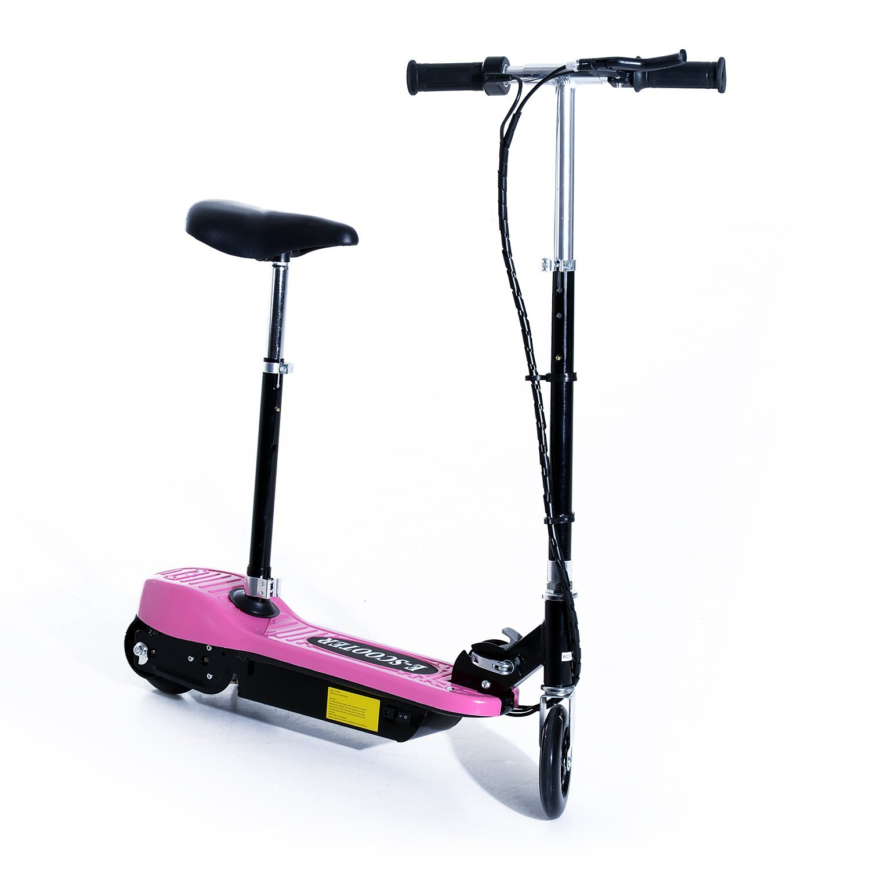 Patinete-Electrico-Plegable-E-Scooter-Bateria-120W-Manillar-Asiento-Ajustable miniatura 38