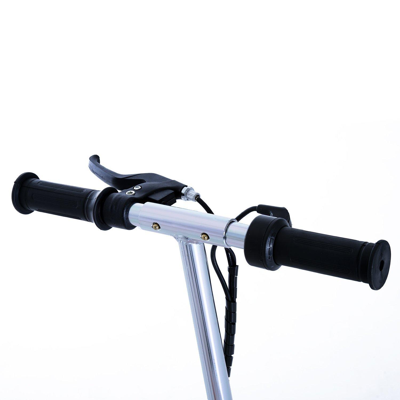 Patinete-Electrico-Plegable-E-Scooter-Bateria-120W-Manillar-Asiento-Ajustable miniatura 40